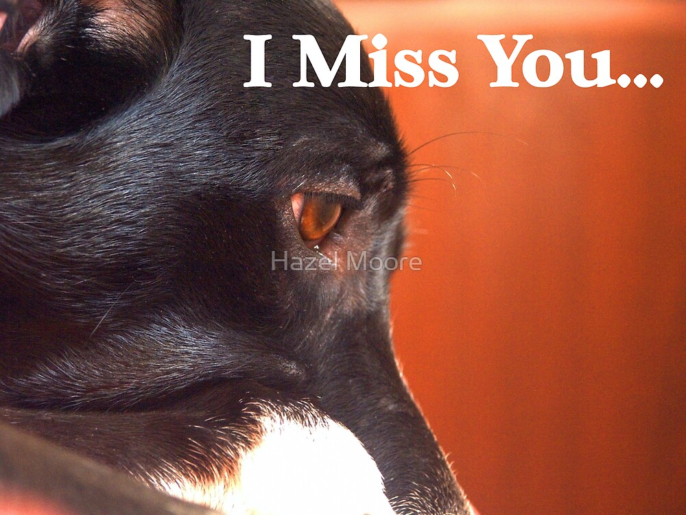 Miss You Card by Hazel Moore