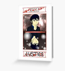 Ghost Hunt Justice Tarot Greeting Card