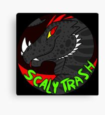 Scaly Trash Canvas Print