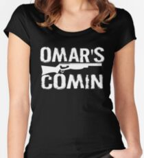 Omar's Comin - The Wire Women's Fitted Scoop T-Shirt