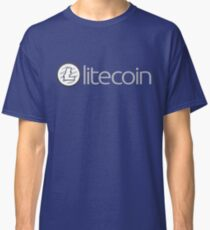 Litecoin Logo (with Text) (LTC) Classic T-Shirt