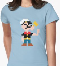 Popeye sprite Womens Fitted T-Shirt