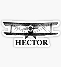 Custom Order Vintage Airplane - Your Name Sticker
