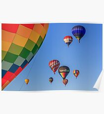 colored air balloons at the blue sky Poster