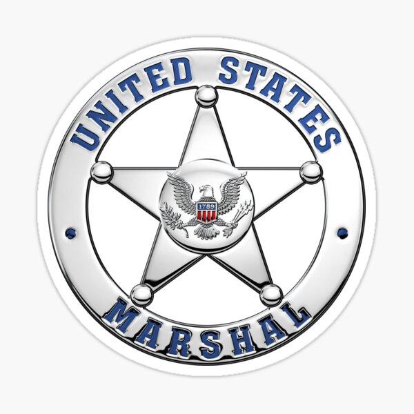 U.S. Marshals Service - USMS Badge over Blue Velvet Sticker