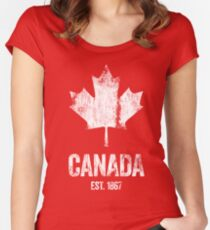 Canada - Established 1867 Women's Fitted Scoop T-Shirt