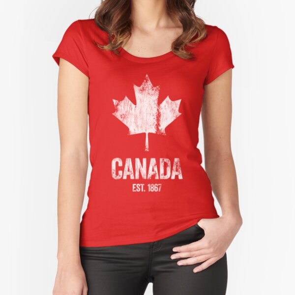 Canada - Established 1867 Fitted Scoop T-Shirt