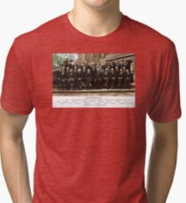 Colorized - Solvay Conference 1927. Einstein, Curie, Bohr and more. Tri-blend T-Shirt