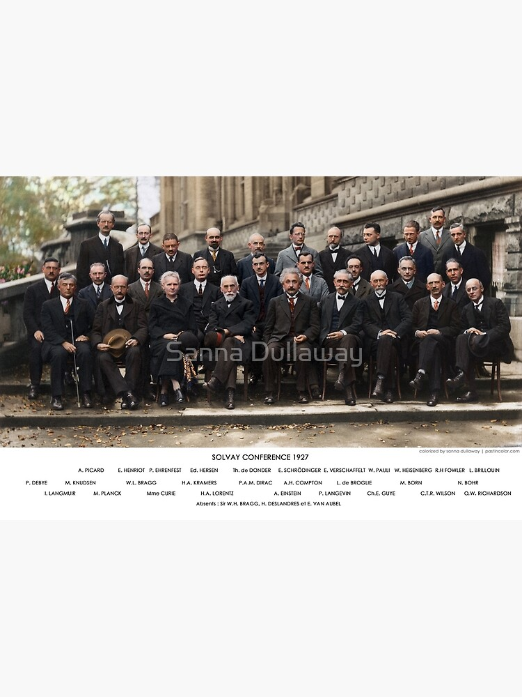 Colorized - Solvay Conference 1927. Einstein, Curie, Bohr and more. by SannaDullaway