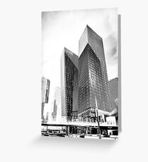twin buildings at Las Vegas, USA in black and white Greeting Card