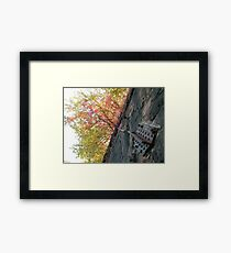 Harsimus Branch Embankment, Former Pennsylvania Railroad Embankment , Jersey City, New Jersey  Framed Print