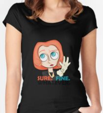 Sure. Fine. Whatever. Scully. Women's Fitted Scoop T-Shirt