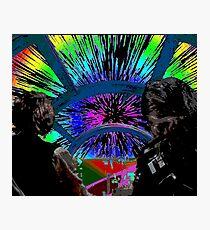 Millennium Falcon Hyperspace Recontextualized Photographic Print