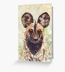 Afrika Wildehond (Lycaon pictus) Greeting Card