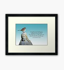 His Eye is on the Sparrow Framed Print