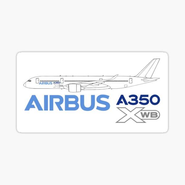 AUTOCOLLANT STICKER AUFKLEBER AIRBUS A350 XWB AIRLINER AIRLINES