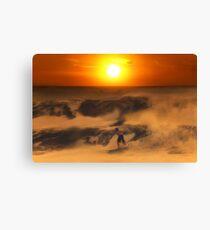 The Race On Sunset Canvas Print
