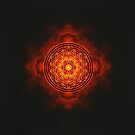 Sacred Fire Flower of Life by Lisa Hildwine