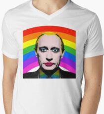 Vladimir Putin Gay Clown Men's V-Neck T-Shirt