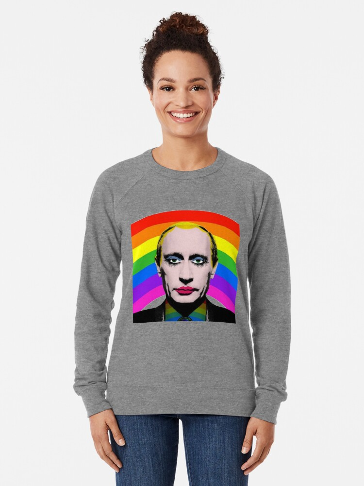 Vista alternativa de Sudadera ligera Vladimir Putin Payaso Gay