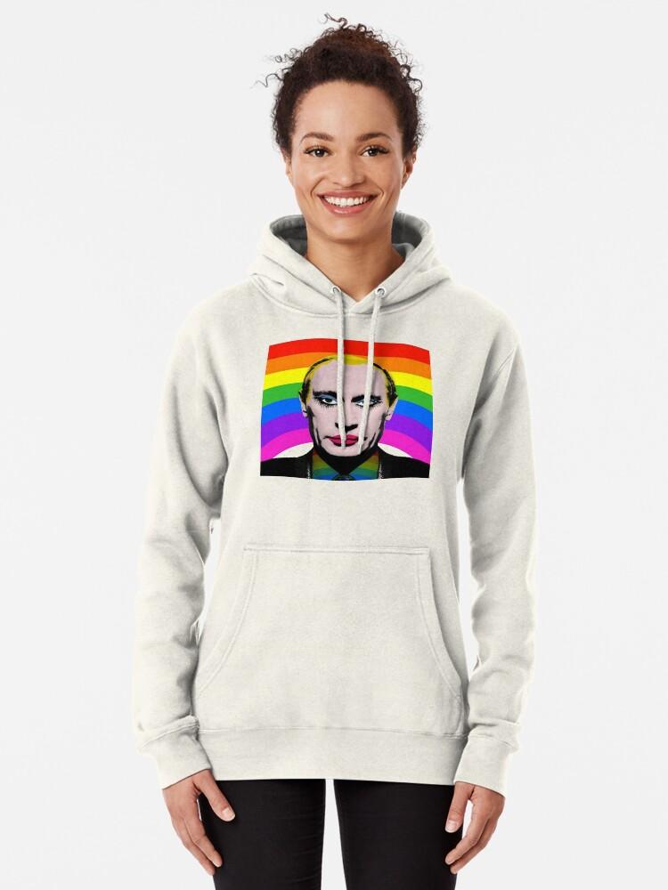 Vista alternativa de Sudadera con capucha Vladimir Putin Payaso Gay
