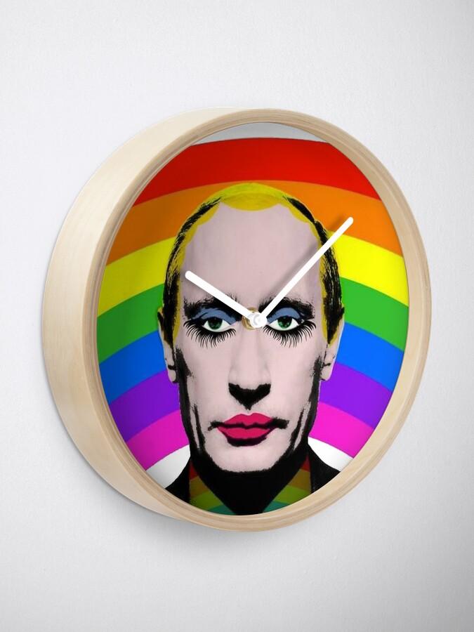 Vista alternativa de Reloj Vladimir Putin Payaso Gay