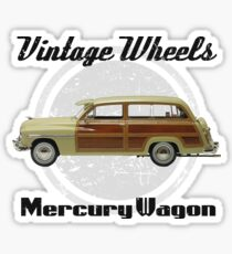 Vintage Wheels: Mercury Wagon Sticker