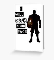 Dunk Greeting Card