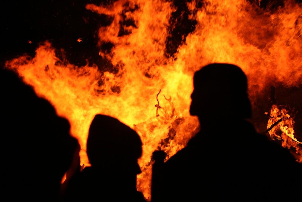Village Bonfire in North Wales by MrMarples
