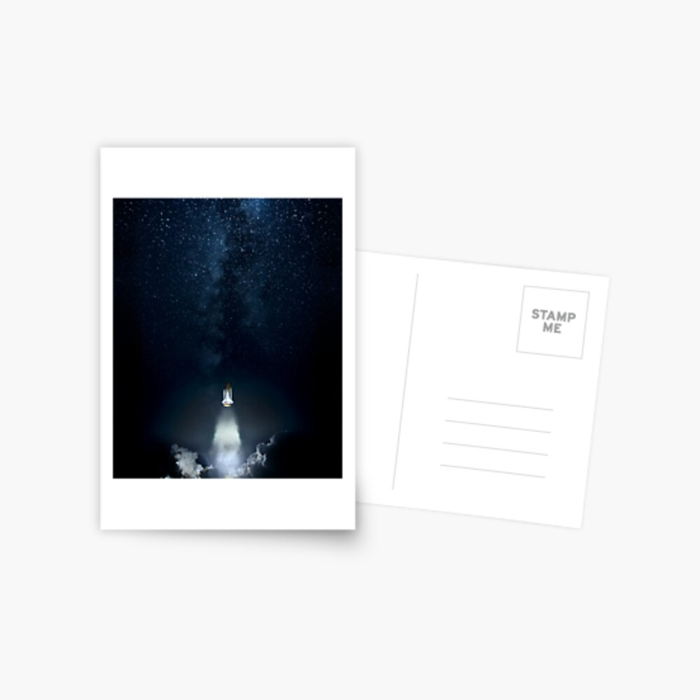 Into Space Postcard