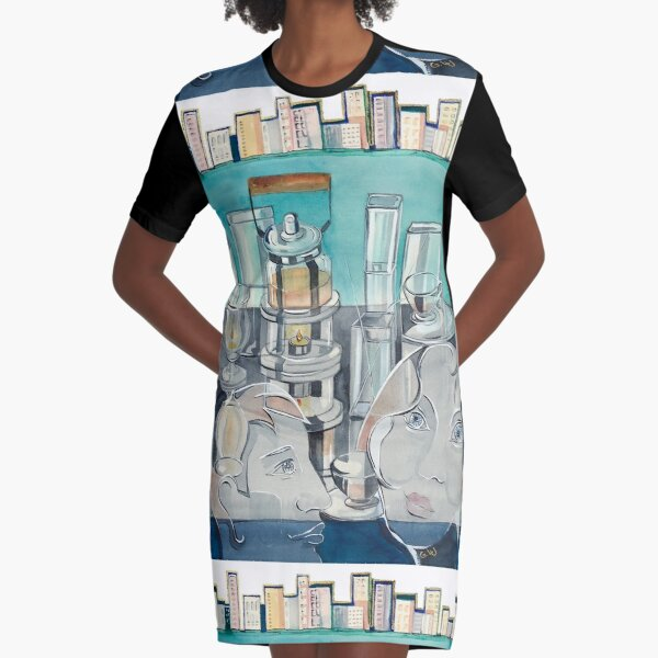 Tea for Two Graphic T-Shirt Dress