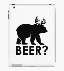 Beer? Beer, drunk, alcohol, bear, funny. iPad Case/Skin