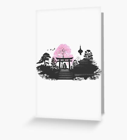 Sakura - Kyoto Japan Greeting Card