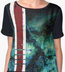 Mass Effect Tribute Armor Stripe Women's Chiffon Top