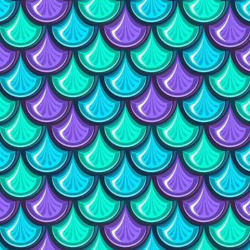 Teal And Purple Mermaid Scales by genderfvcked