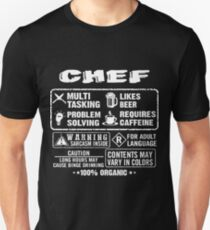 a344b1f954 CHEF funny and humor Slim Fit T-Shirt