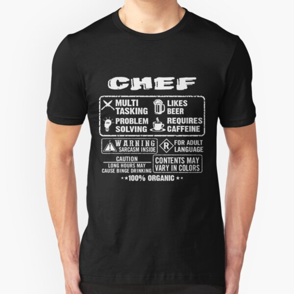 Cook Mens Personalised T-Shirt Gift Idea Food Chef Catering Restaurant Funny