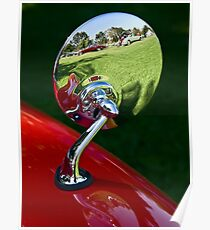 Classic auto show reflected Poster
