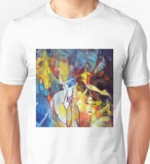 Do you ever dream of escaping?, 50-50cm, 2017, oil on canvas T-Shirt