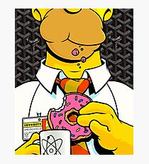 Homer Simpson with Goyard Photographic Print