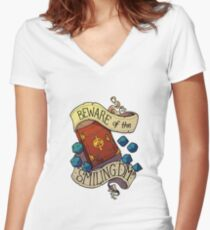 Beware of the Smiling Dungeon Master Women's Fitted V-Neck T-Shirt