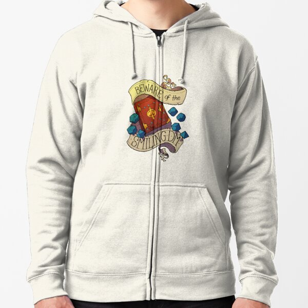 Beware of the Smiling Dungeon Master Zipped Hoodie