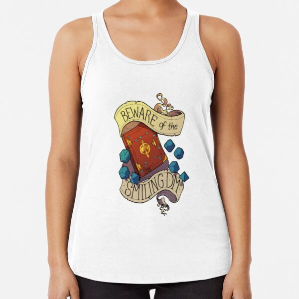 Beware of the Smiling Dungeon Master Racerback Tank Top