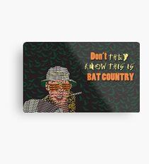 Fear & Loathing - Bat Country Metal Print