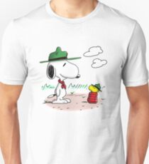 Camping Snoopy & Woodstock (Peanuts) Unisex T-Shirt