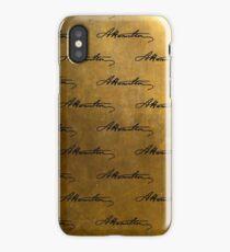 Hamilton Repeating Pattern iPhone Case/Skin