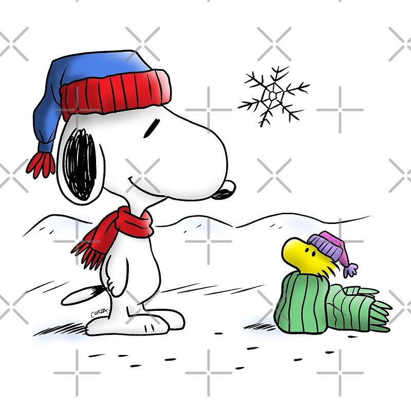 quotwinter snoopy amp woodstock peanutsquot canvas prints by