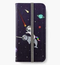 Unicorn Riding Narwhal In Space iPhone Wallet/Case/Skin