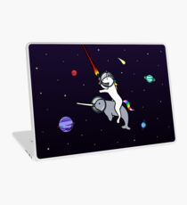 Unicorn Riding Narwhal In Space Laptop Skin