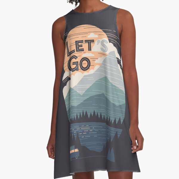 Let's Go A-Line Dress